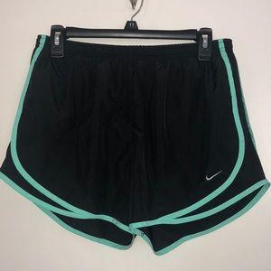 Black and teal Nike shorts